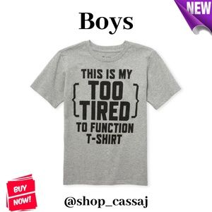 Boys' Too Tired To Function Graphic T-Shirt